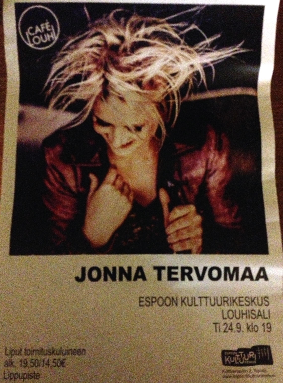Jonna Tervomaa @ Louhisali, Espoo